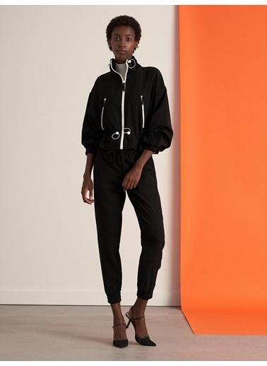 Nocturne Kontrast Aksesuarlı Ceket Siyah